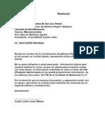 Carta Formal