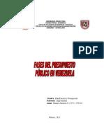 Fases Del Presupuesto Publico en Venezuela