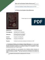 Compilación de la Constitución Política de los Estados Unidos Mexicanos de 1917.pdf