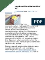 Menyembunyikan File Didalam File Gambar JPG