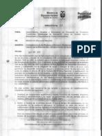 Directiva Ministerial 02 de 2012