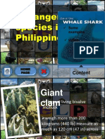 ppt some endangered species in the philippines
