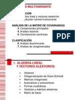 1 Algebra Lineal y Vectores Aleatorios