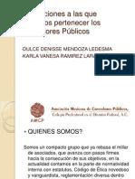 Asociaciones a las que podemos pertenecer los Contadores Públicos