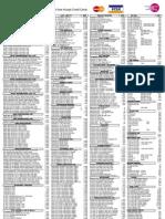Chelsey Retail Price List