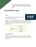 Perbedaan Analisi Proyek Dengan Analisi Usaha