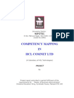 Competancy Mapping in HCL Ltd