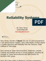 Ducats Reliability Portfolio