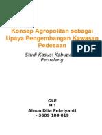 Konsep Agropolitan Sebagai Upaya Pengembangan Kawasan Pedesaan Di Kabupaten Pemalang