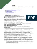 Creativity Basics