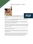 Hábitos alimenticios en niños de 1 a 3 años