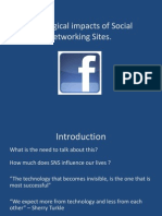 Sociological Impacts of Social Networking Sites