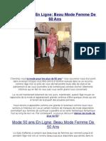 Mode 50 Ans en Ligne Beau Mode Femme de 50 Ans