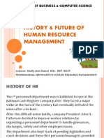Session 1 - History of HR