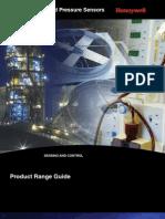 Honeywell Sensing Pressure Force Flow Range Guide