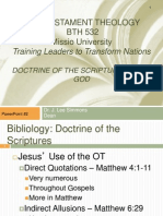 The Doctrine of the Scripture and of God