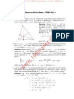 Rmo 2011 Solutions Previous year Question Papers of Regional Mathematical Olympiad with solutions