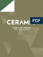 Tabela preços Ceramic 2012
