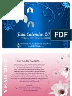 Jain Calendar 2013 in English