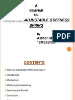 Design of Adjustable Stiffness Spring
