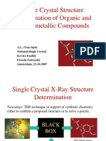 Single Crystal Structure Determination of Organic and Organometallic Compounds