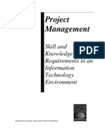 BSPM ISACA Project Management - Skills and Knowledge Requirements in an IT Environment 2002