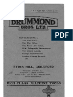 "Drummond ""M"" Type 31/2 inch Centre Lathe"
