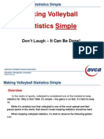 Making Volleyball Statistics Simple PowerPoint