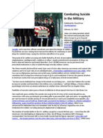 Combating Suicide in the Military