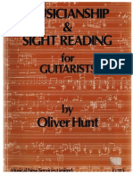 Hunt, Oliver - Musicianship & Sight Reading for Guitarists