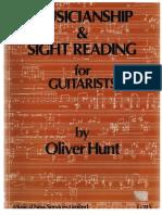 Hunt, Oliver - Musicianship & Sight Reading for Guitarists