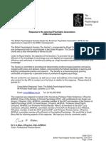 DSM-5 2011 - BPS Response