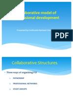 Collaborative Model of Professional Development 2