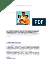 L0S PADRES DENTRO DE LA EDUCACÓN DEL NIÑO