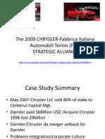 Chrysler-Fiat Strategic Alliance
