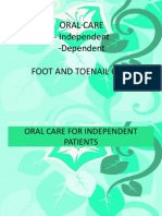 Oral Care_dep and Indep_foot and Toenail Care