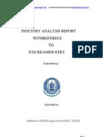 Industry Analysis on Ice Cream Industry MBAHOTSPOT