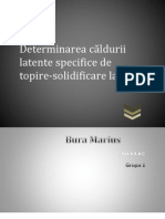 Determinarea căldurii latente specifice de topire