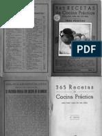 365 Recetas de Cocina Practica Cocina Espa Ola Recetario Antiguo