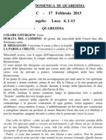 Pagina dei Catechisti - 17 febbraio 2013