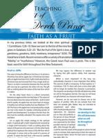 Faith as a Fruit