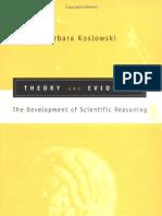 Koslowski - Theory and Evidence. the Development of Scientific Reasoning