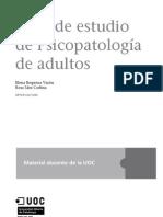 GUÍA ESTUDIO PSICOPATOLOGÍA ADULTO