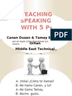 Teaching Speaking With the 5 Ps (2)