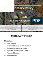 Monetary Policy & its Impact