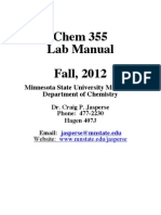 Chem355 Labbook