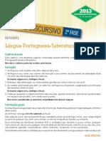 Uerj 2013 Prova Lingua Portuguesa Literatura