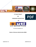 Consumer Perception Uti Mutual Fund