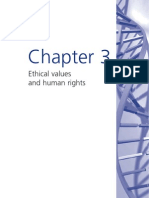 Bioinformation Chapter 3 - Ethical Values and Human Rights
