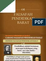 FALSAFAH PENDIDIKAN BARAT